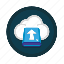 cloud, computing, data, drive, server, storage, upload icon