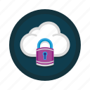 cloud, lock, padlock, safe, safety, secure, security icon