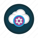 cloud, computing, data, network, service, services, storage icon