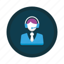 agent, call, center, customer, representative, service, support icon