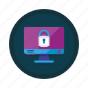 cyber, lock, locked, password, safety, secure, security icon