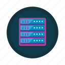 center, computing, data, database, hosting, server, storage icon