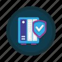 data, database, facility, protection, safety, secure, storage icon