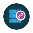 connection, data, database, link, network, server, storage icon