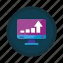 increase, traffic, bar, chart, data, growth, statistics