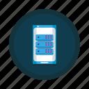 data, database, mobile, phone, smartphone, storage icon
