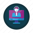 agent, call, center, customer, online, service, support icon