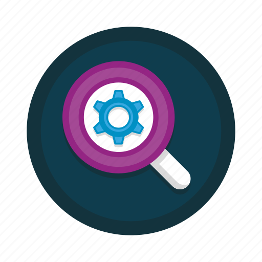 glass, magnifying, options, preferences, seo, settings icon