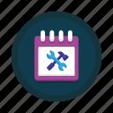 maintenance, schedule, scheduled, service icon