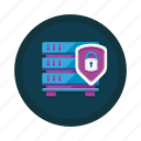 data, database, encrypted, encryption, hosting, server icon