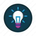 bulb, creativity, idea, innovation, light, lightbulb, solution icon