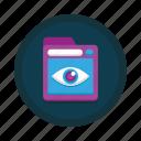 browser, eye, incognito, monitoring, private, vpn, web icon