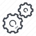 gear, machine, settings, technology icon