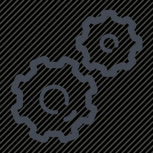 gear, machine, settings, technology icon
