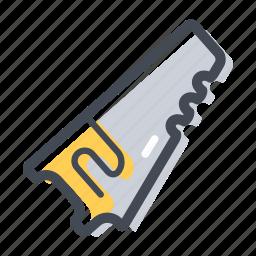 circular saw, construction, cut, hand tool, handyman, saw, wood icon