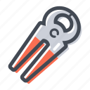 carpenter, hand tool, handyman, nail, pliers icon