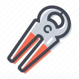 carpenter, hand tool, handyman, nail, pliers icon