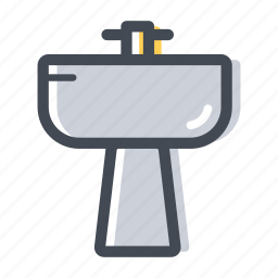 bathroom, faucet, house, plumber, sink, water icon