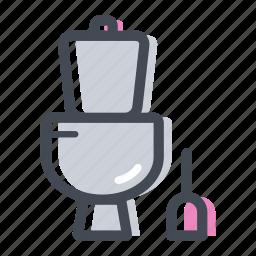 bathroom, lavatory, plumber, restroom, toilet icon