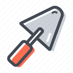 bricklayer, cement, construction, hand tool, trowel icon