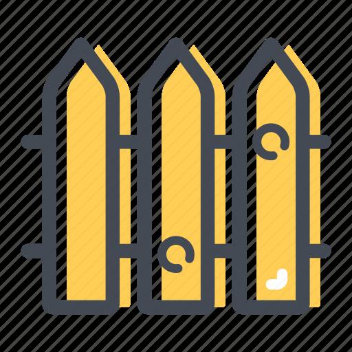 border, farm, fence, garden, wooden fence icon