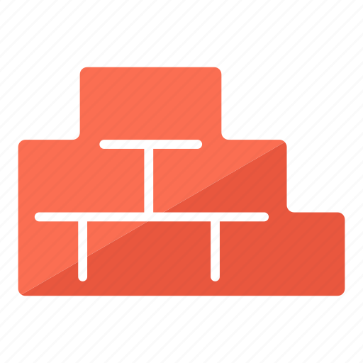 brick wall, bricklayer, bricks, building, construction, wall icon