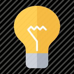 construction, electrician, elektricity, lamp, light, lightbulb icon