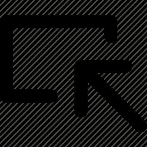arrow, direction, inspect, inspector, pointer, screen, selector icon