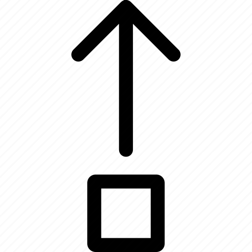 arrow, box, direction, inspect, move, up, upload icon