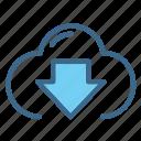 cloud, connection, download, network, web