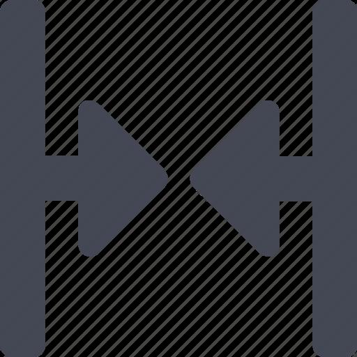 arrows, decrease, inwards, move in, narrow, narrow down icon
