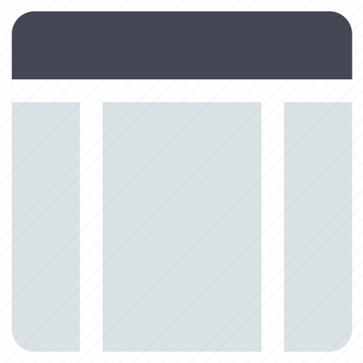 grid, interface, layout, sidebars, web grid, web layout icon