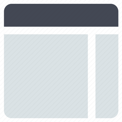 grid, interface, layout, right sidebar, sidebar, web grid, web layout icon