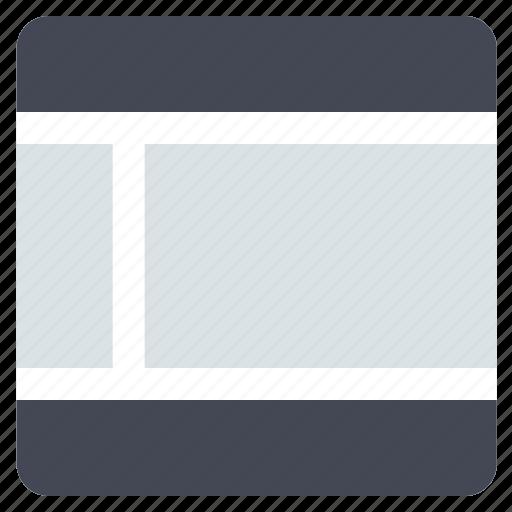 grid, interface, layout, left sidebar, sidebar, web grid, web layout icon