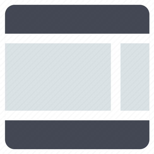 grid, interface, layout, right sidebar, sidebar, web grid, web layout icon