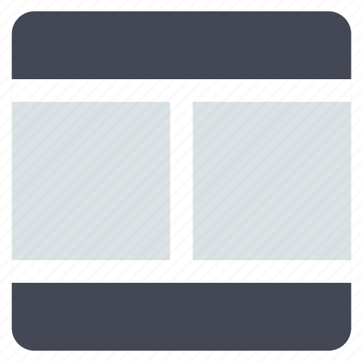 grid, interface, layout, two columns, web grid, web layout icon
