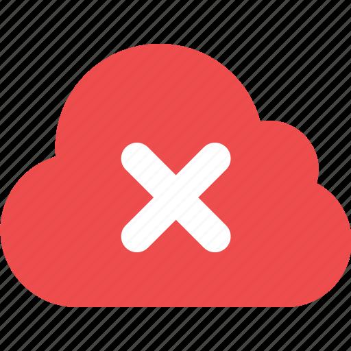 cloud, delete, delete cloud icon