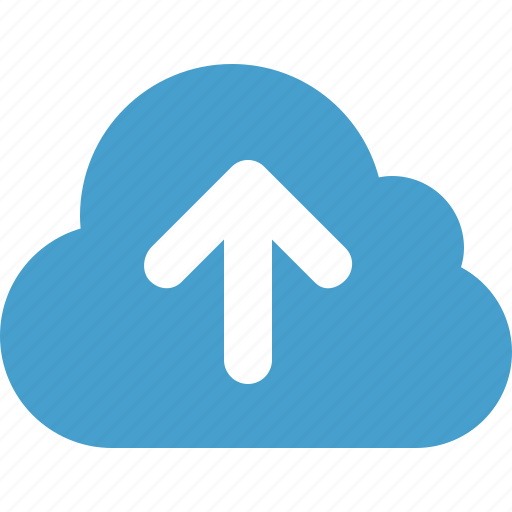 cloud, cloud data, online storage, upload, upload to cloud icon
