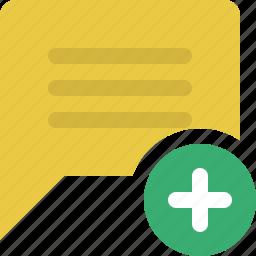 add comment, chat, chat bubble, conversation, message, speech bubble icon