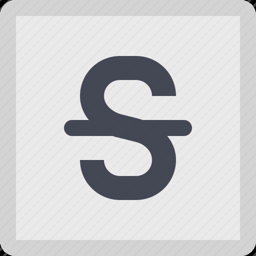 font style, strikethrough, text style, typography icon