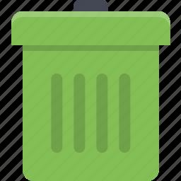 delete, empty, garbage, garbage can, trash, trash bin icon