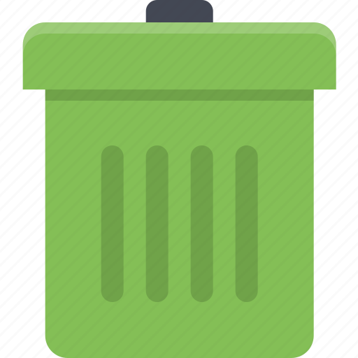 delete, empty, garbage, garbage can, trash, trash bin icon