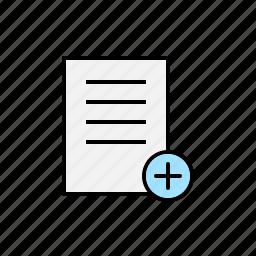 add, content, new, plus icon