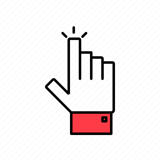 click, hand, pointer icon