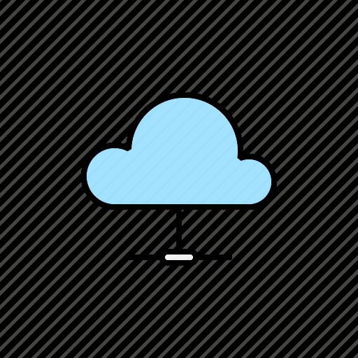 cloud, computing, hosting, server icon
