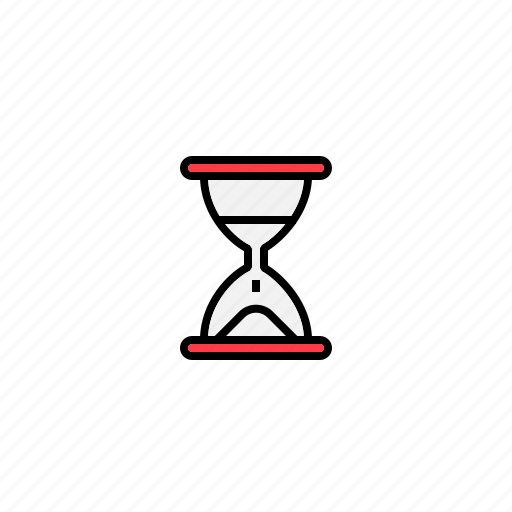 hour glass, load, loading, time icon