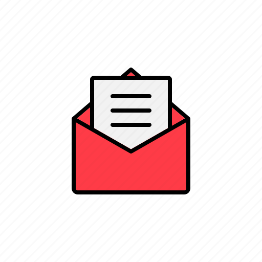 email, envelope, open, opened email icon