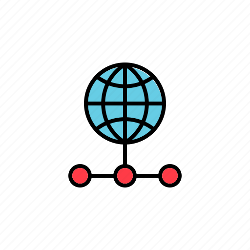 connection, internet, network, share, sharing icon