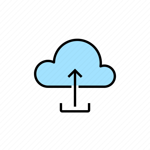 cloud, network, server, upload, uploading icon