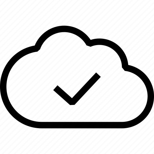 cloud, cloud sync, done, sync, upload complete, uploaded icon